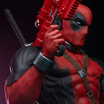 left view close up of Deadpool Third Scale Statue