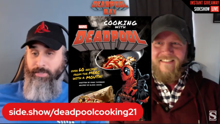 Alex and Rob give away the Deadpool Cooking Book