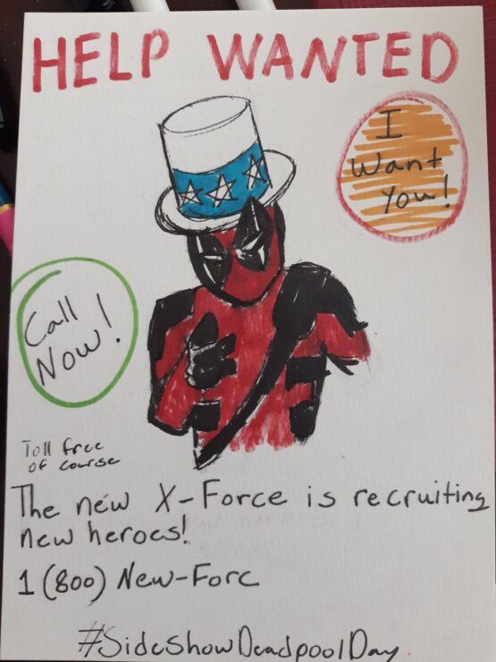Jadin Pro I WANT YOU Deadpool drawing