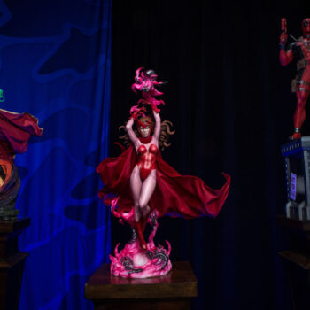 Scarlet Witch, Doctor Strange from Sideshow and Iron Man by PCS Statue