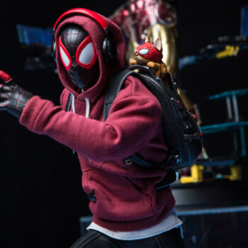 close up on the Miles Morales Sixth Scale Figure