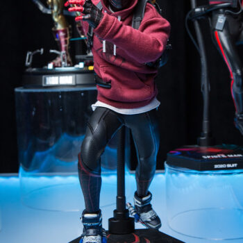front view of the Miles Morales Sixth Scale Figure