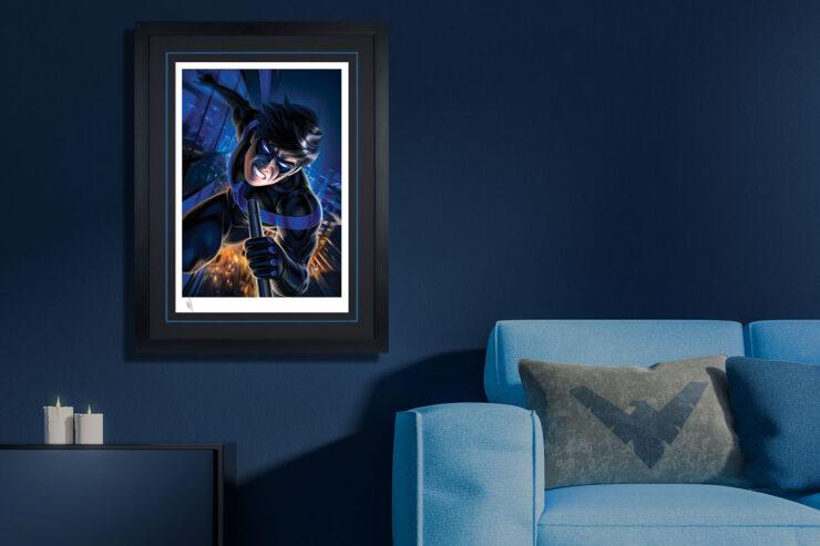 Nightwing Fine Art Print Warren Louw Black Frame