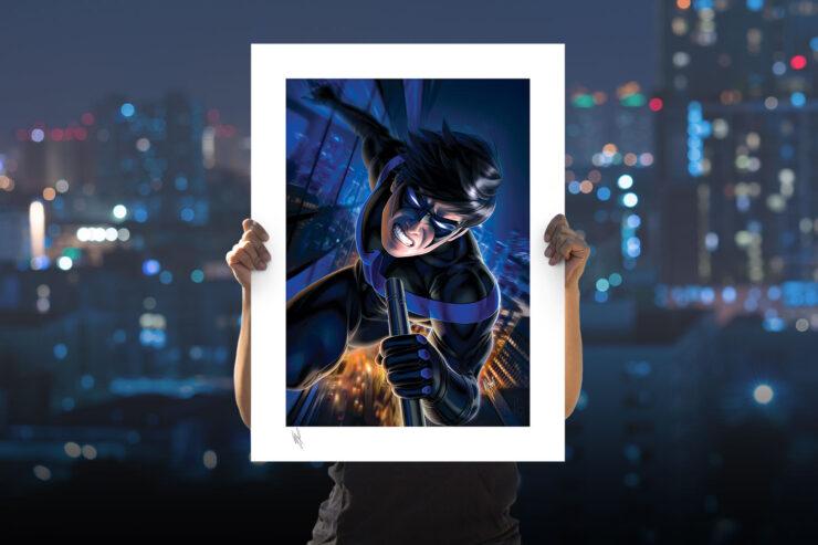 Nightwing Fine Art Print by Artist Warren Louw