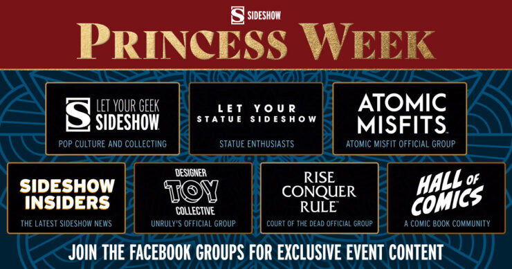 Join the official Sideshow Facebook Groups