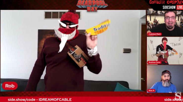 Rob K as Venompool during Cobbled Cosplay