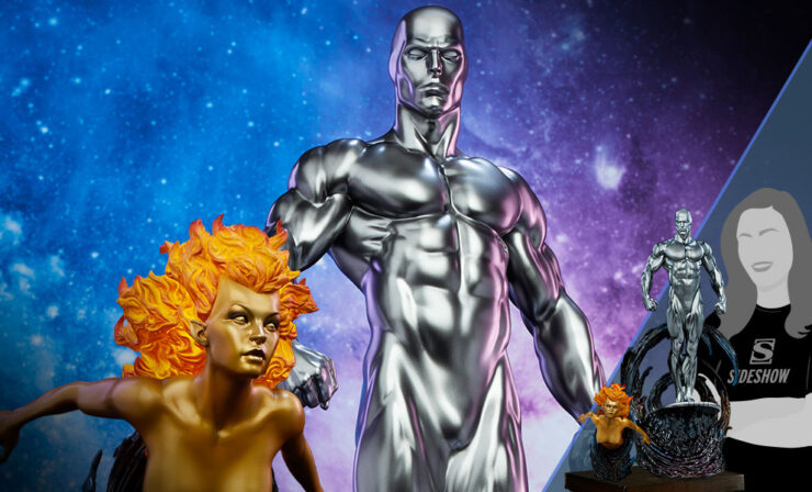Final Production Photos of the Silver Surfer Maquette