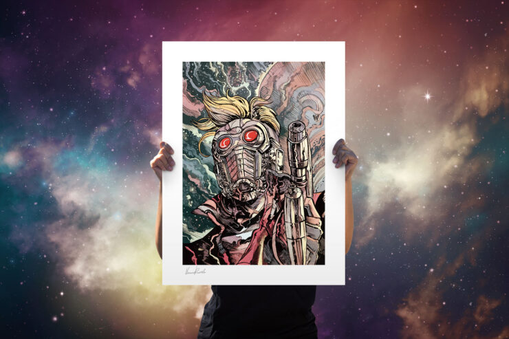 Star-Lord Fine Art Print by Artist Vincenzo Riccardi