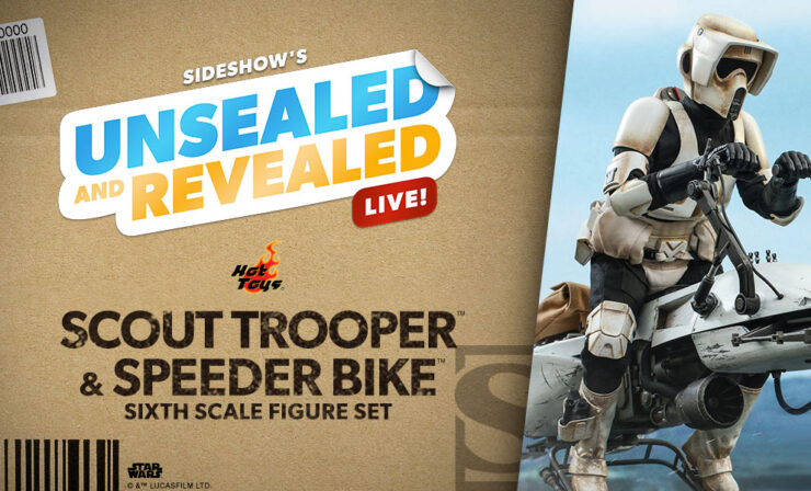 Up Next on Unsealed and Revealed: Scout Trooper and Speeder Bike Sixth Scale Figure Set by Hot Toys