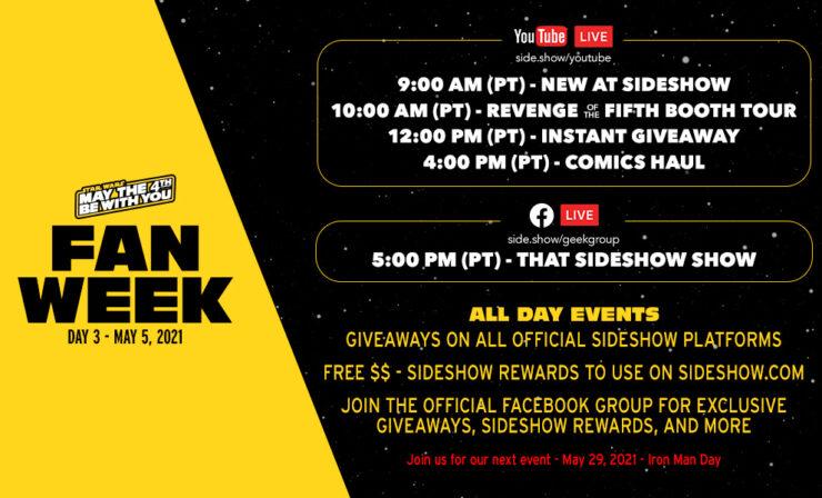 Fan Week Schedule- Day 3 Events