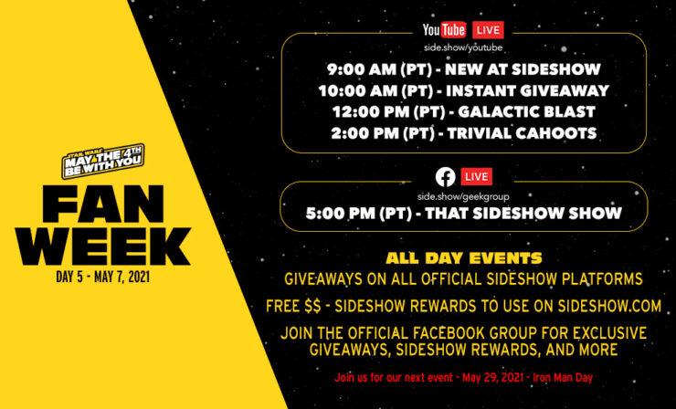 Fan Week Schedule- Day 5 Events
