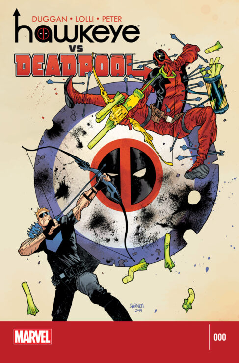 Hawkeye Vs. Deadpool Cover