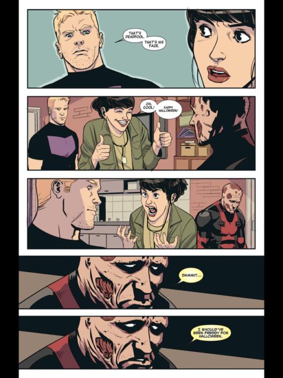 Deadpool Regrets his Halloween Costume