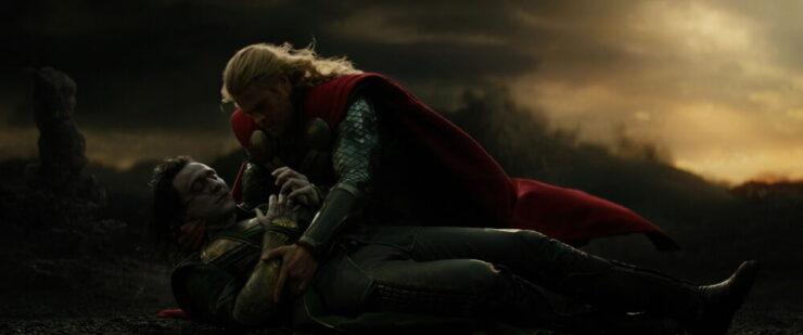 Loki's death in Thor 2 The Dark World