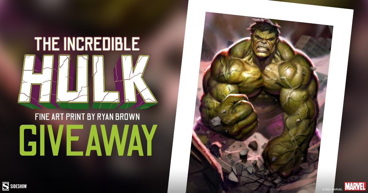 The Incredible Hulk Fine Art Print Giveaway