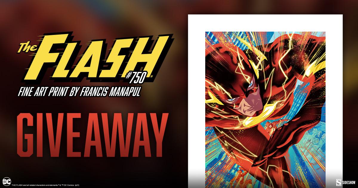 The Flash #750 Fine Art Print Giveaway