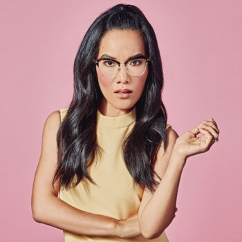 Ali Wong over pink background