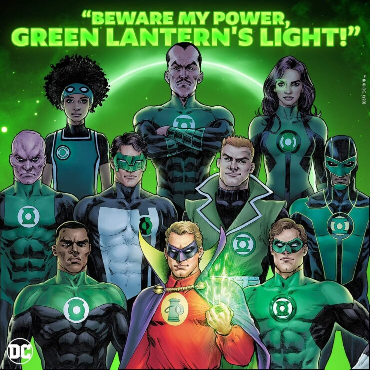 The Green Lanterns of Earth and Sinestro