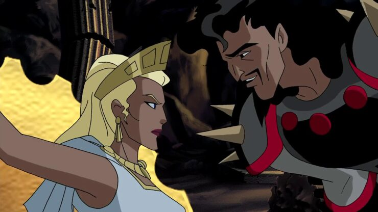 Hades Justice League Animated Series with Queen Hippolyta