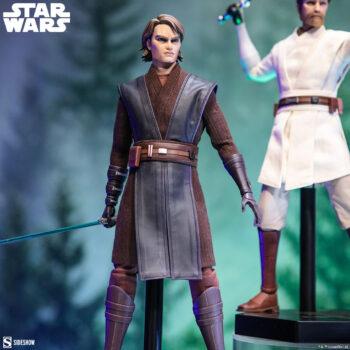 Obi-Wan Kenobi Sixth Scale Figure and Anakin Skywalker Sixth Scale Figure close up on the Anakin figure