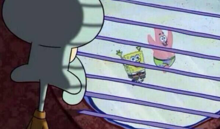 Squidward Looking Out Window Meme