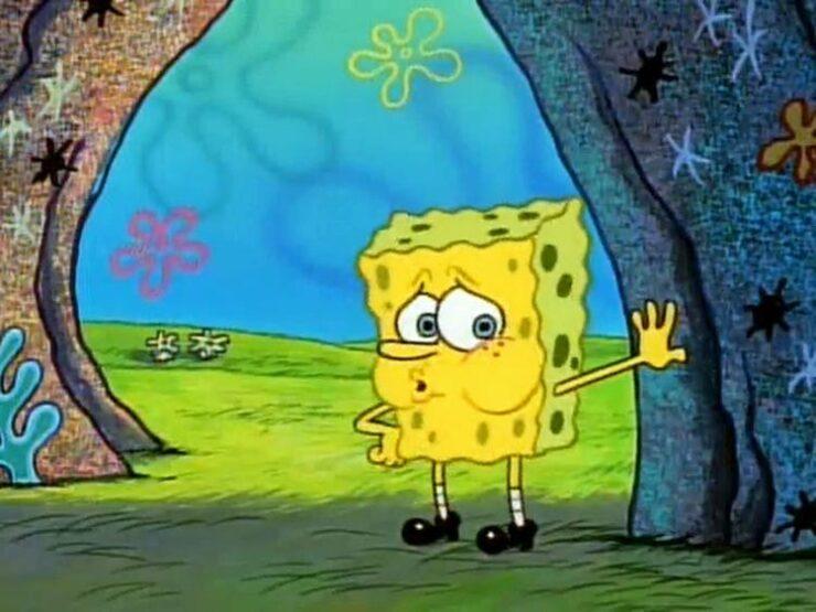 Tired Naked SpongeBob