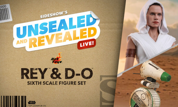 Up Next on Unsealed and Revealed: Rey and D-0 Sixth Scale Figure Set by Hot Toys