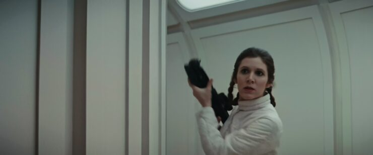 Princess Leia during the Bespin Escape