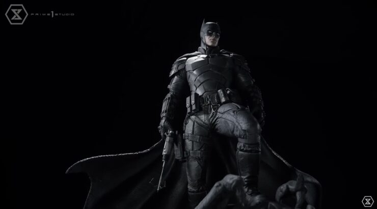 The Batman Statue- Full Body Lower View