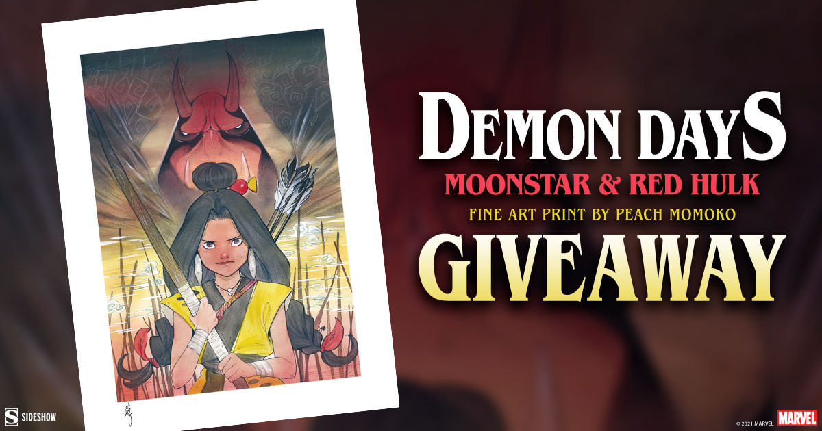 Demon Days: Moonstar and Red Hulk Fine Art Print Giveaway