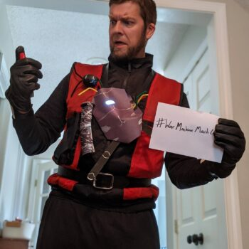 Let Your Geek Sideshow Facebook Group member Chris Hager's War Machine/Ant-Man mashup cobbled cosplay costume