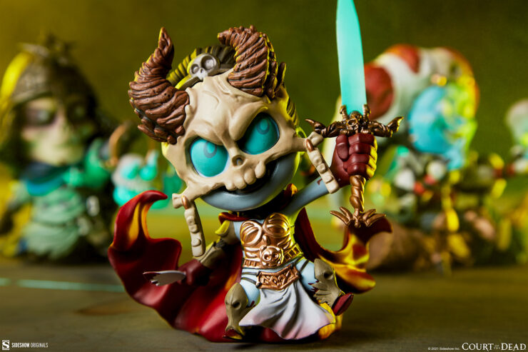 Centering in on Kier in the Court-Toons Collectible Statue Set