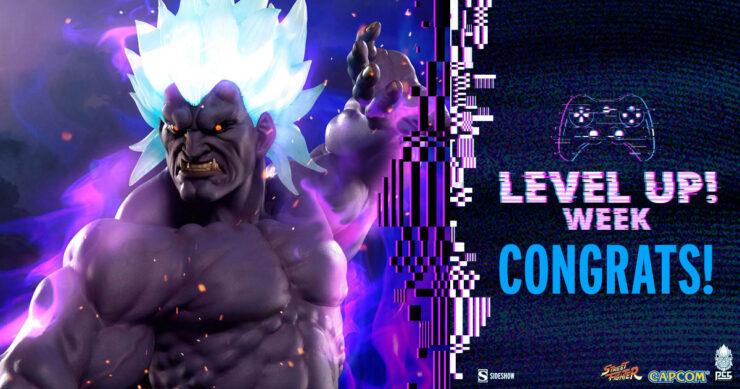 Sideshow Level Up Week Street Fighter Oni Akuma Statue by PCS winner - CONGRATS!
