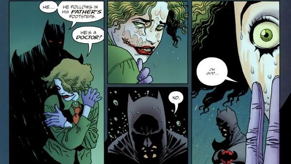 Martha Wayne Joker talking with Flashpoint Batman