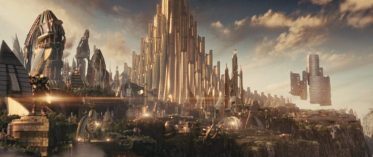 Asgard, home of Thor, Loki, Sif, and other Norse figures