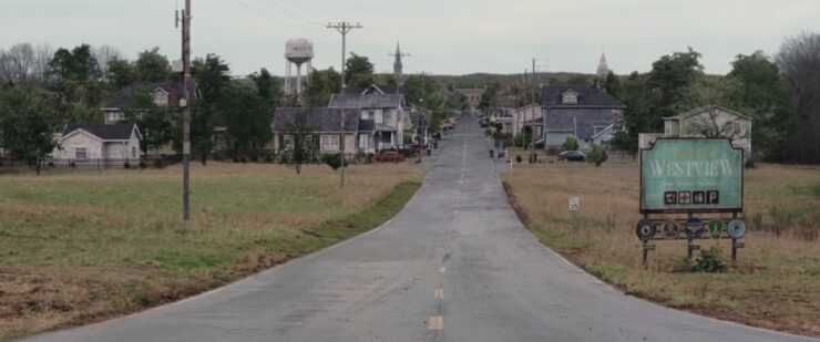 Westview, a small town in New Jersey that was the site of the Scarlet Witch's reality warp