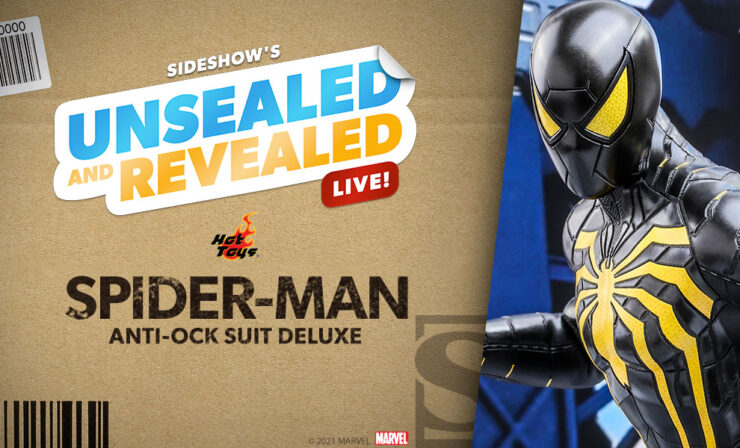 Unsealed and Revealed live at 10 AM PT on 6/3/2021 featuring the Marvel Spider-Man (Anti-Ock Suit) Deluxe Sixth Scale Figure by Hot Toys