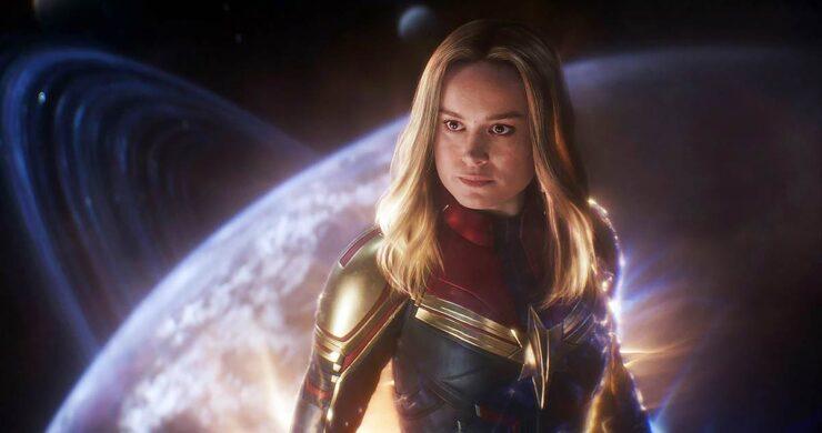 Brie Larson as Carol Danvers/Captain Marvel in Marvel Studios Avengers Endgame