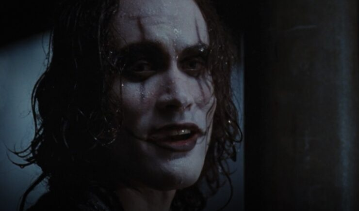 Brandon Lee as Eric Draven/The Crow in The Crow