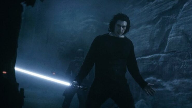 Adam Driver as Kylo Ren in Star Wars The Rise of Skywalker