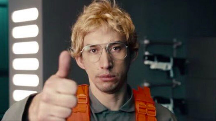 Adam Driver as Kylo Ren/Matt The Radar Technician in Saturday Night Live's Undercover Bosses: Star Wars Starkiller Base skit