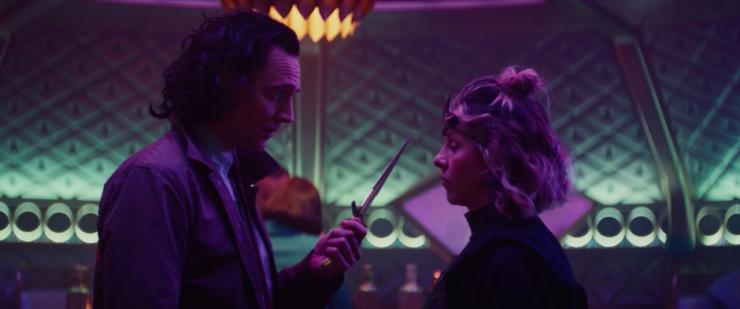 "Loki and Sylvie discuss love in Episode 3 ""Lamentis"""