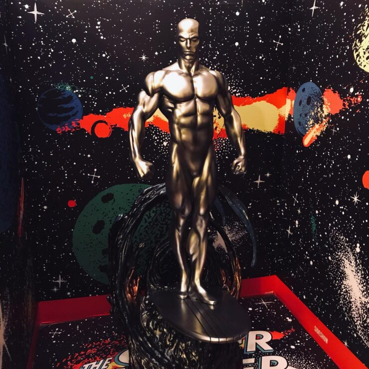 Silver Surfer Maquette Collection Display