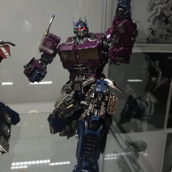 Transformers collectible in transformers display