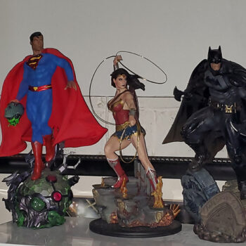 Superman Wonder Woman Batman Premium Format Figures