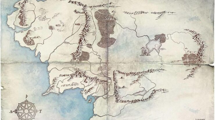 Amazon Lord of the Rings Map