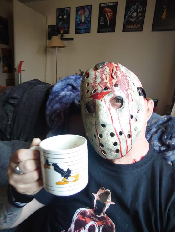 Let Your Geek Sideshow Facebook Group member Barry A. dressed as Jason Voorhees