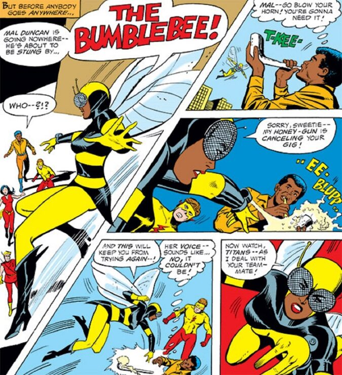 Bumblebee, DC's first Black super heroine and a member of the Teen Titans