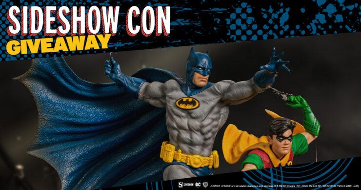 Sideshow Con GIVEAWAY - DC Comics Batman & Robin Statue by Iron Studios