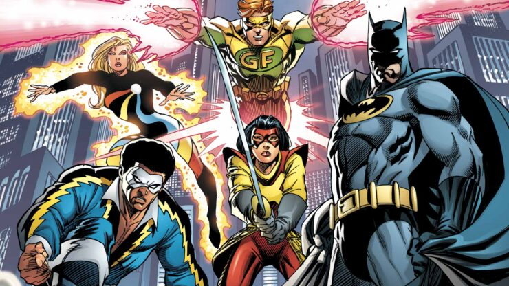 The Outsiders, a group of heroes put together by Batman